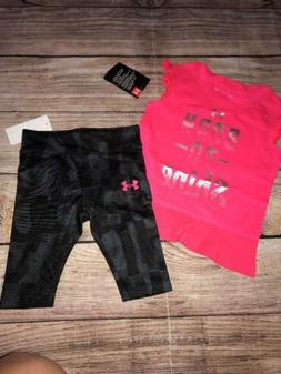 Under Armour Girls 12 18  Months Capri Outfit NEW Born To Sh