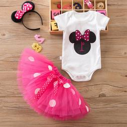 girls 1st birthday minnie mouse bow dots