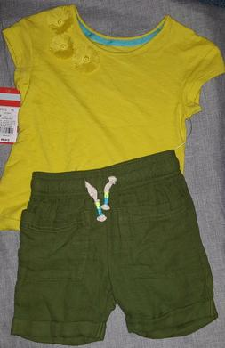 Girls 2pc Shirt Shorts Out-fit- Cat & Jack-Size 18 Months, 2