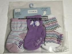 Girls Robeez Baby Girls' Bouncing Bunny 3 Pack Socks 6-12 Mo