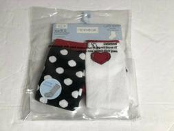 Girls Robeez Baby Girls' Dotted Heart 2 Pack Boot Socks 6-12