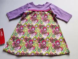 Girls ZUTANO boutique cotton dress 3-6-12 months NWT purple