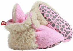 Girls' Cozie Fleece Baby Booties with Grippers 12-18 months