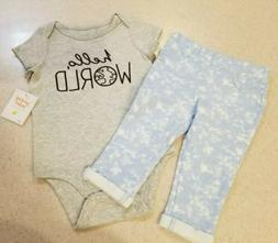 Girls Hello World Outfit, 12 Months, Infant, Jeggings, Jumpi