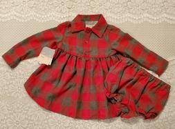 Girls Pastourelle Pippa & Julie Red & Gray Check Dress/Bloom