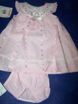 Bonnie Baby Girls Pink dress New with tags 12 months
