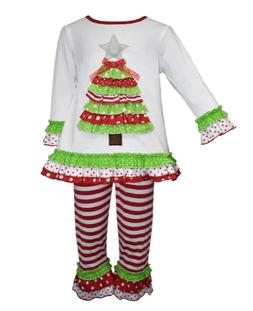 girls size 12 months christmas ruffle boutique