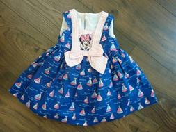 DISNEY BABY GIRLS SIZE 12 MONTHS MINNIE MOUSE SAILBOATS DRES