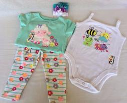 Girls Toddler Outfits with Matching Headbands 12 Months Gara