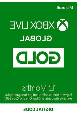 Global Xbox Live Gold 12 Months - Microsoft Xbox One/360 Mem