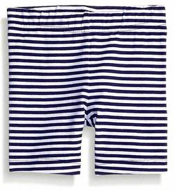 Gerber Graduates Girls Bike Short, Navy Stripe, 12 Months