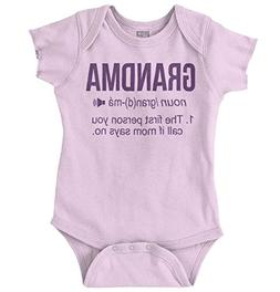 Brisco Brands Grandma Definition Funny Meaning Baby Gift Rom