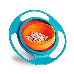 Beaverve Gyro Bowl, 360 Degree Rotate No Spill Bowls for Tod