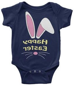Happy Easter Bunny Infant Bodysuit Cute Holiday Basket Egg H