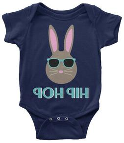 Hip Hop Bunny Infant Bodysuit Cute Happy Easter Basket Egg H
