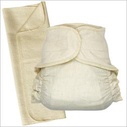 Hook-&-loop Cotton Fitted Cloth Diapers with Diaper Booster