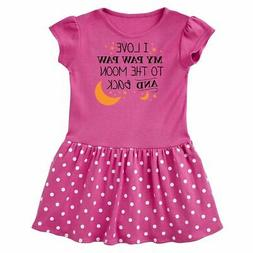 Inktastic I Love My Paw Paw To The Moon And Back Infant Dres