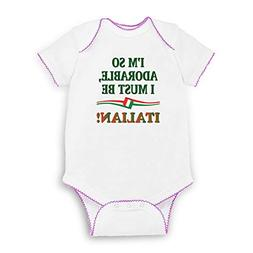 Cute Rascals I'm So Adorable I Must Be Italian Short Sleeve