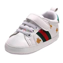 Infant Baby Boy Girl White Sneakers Soft Sole Crib Shoes New