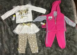 Infant Baby Girl 12 Months 2 Sets  Fall/Winter 5 Pieces New