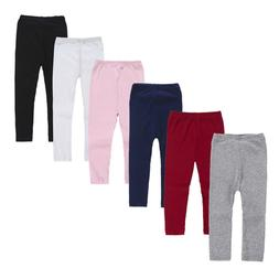 Infant Baby Girls Winter Leggings Solid Knee-length Pants Wa