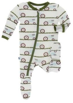 Kickee Pants Infant Boy Print Coverall Footie With Zipper Tr