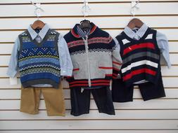 Infant Boys Nautica $54.50-$69.50 3pc Sweater Sets Size 6/12
