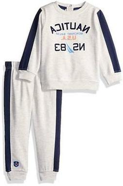 infant boys oatmeal 2pc jog pant set