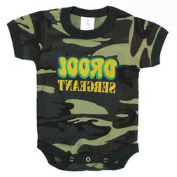 Infant Camo One Piece Bodysuit Baby Shirt Drool Sergeant Rot