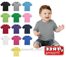 Infant Cotton T-Shirt Colors Plain Solid Colors Baby Tee 6 1