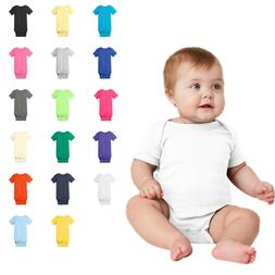 Infant RS4400 Short Sleeve Baby Bodysuit Plain Solid Colors