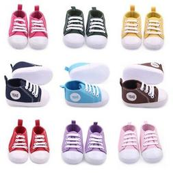 Infant Toddler Baby Boy Girl Kids Sole Crib Shoes Sneaker Ne