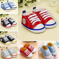 Infant Toddler Baby Boys Girls Soft Sole Crib Shoes Sneaker