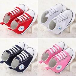 Infant Toddler Baby Boy Girl Soft Sole Crib Shoes Sneaker Ne