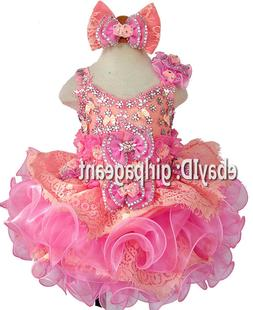 Infant/toddler/baby/girl Lace Dress  G274 available from 9-1