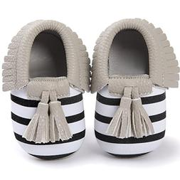 Voberry Infant Toddlers Baby Boys Girls Soft Soled Tassel Cr