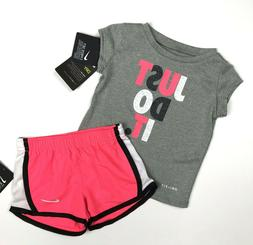 Nike Infants Toddler Girls 2 Piece Set T Shirt & Shorts Kids