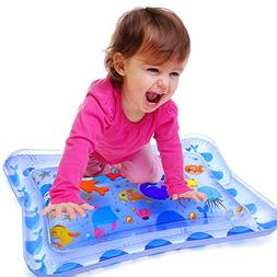Inflatable Tummy Time Water Mat Infants Fun Activity Play Ce