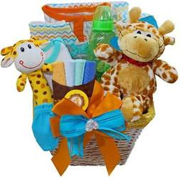 Jessie The Giraffe Baby Gift Basket, Boy