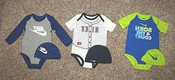 Nike Baby Infant Bodysuit Hat Set Boys 3-6 6-9 9-12 Months