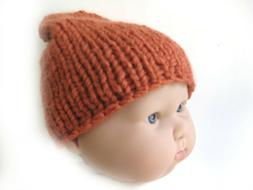 "KSS Copper Colored Soft Knitted Baby Cap 13-16""  HA-079 on S"