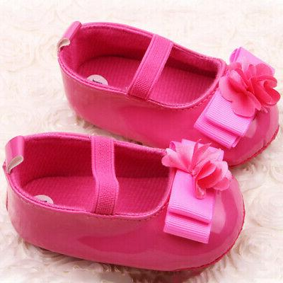 0-12M Baby Toddler Infant Girl Crib Shoes Soft Soles Sneakers