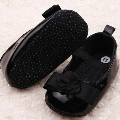 0-12M Baby Toddler Infant Girl Soft First Sneakers