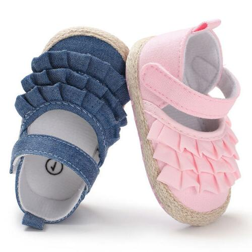 0-18 Newborn Infant Toddler Soft Sole Walkers