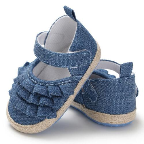 0-18 Months Toddler Baby Girl Sole First Walkers