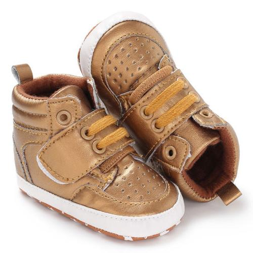 0-18M Toddler Shoes Baby Boy PU Boots Crib Sneaker US