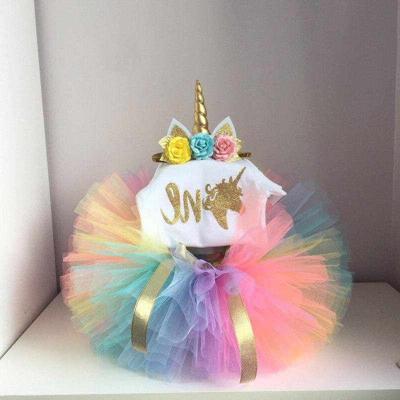 1 Baby Girl Christening Unicorn <font><b>12</b></font> Toddlers 1st Clothes Sets