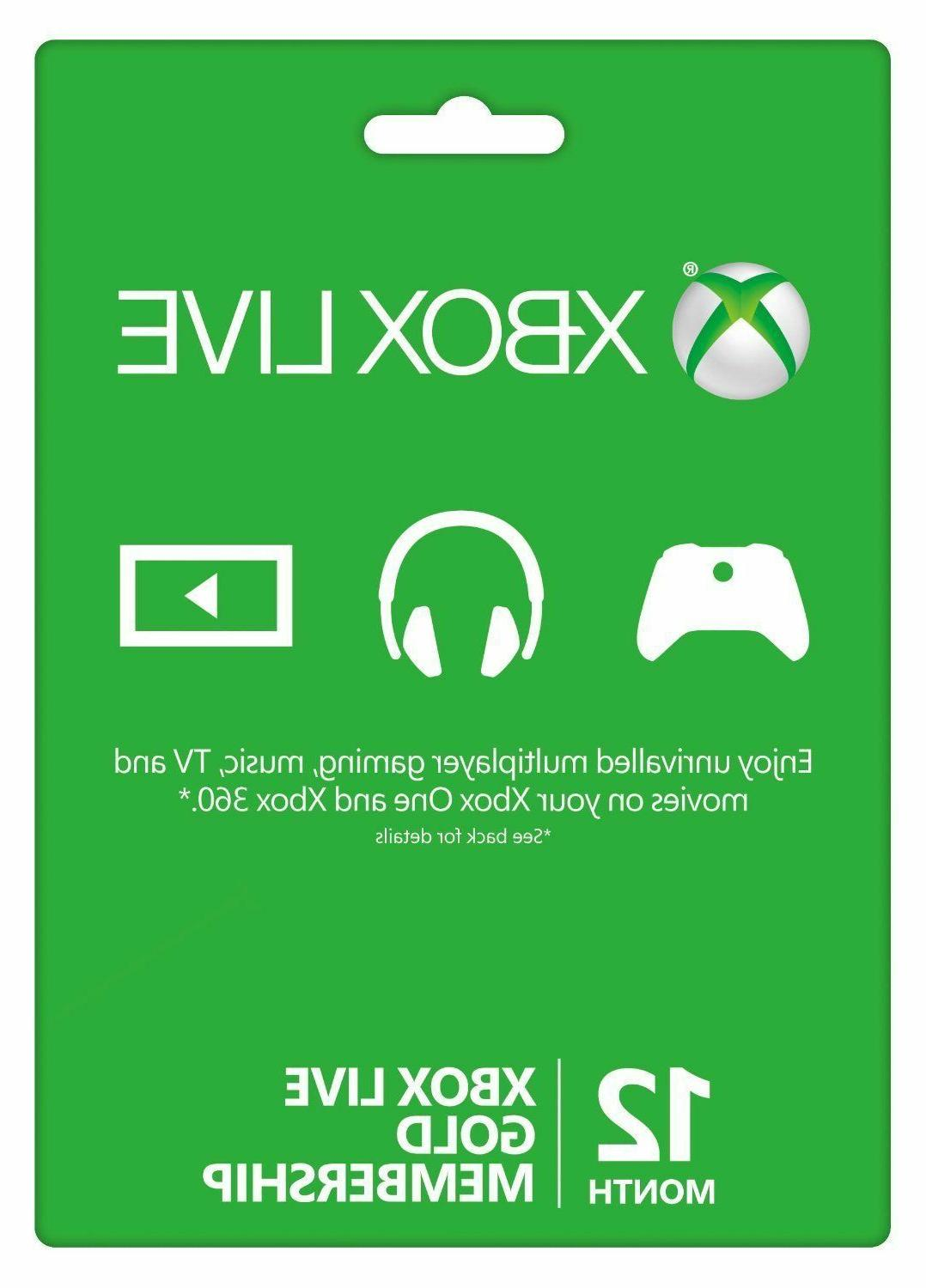 12 month xbox live gold membership subscription