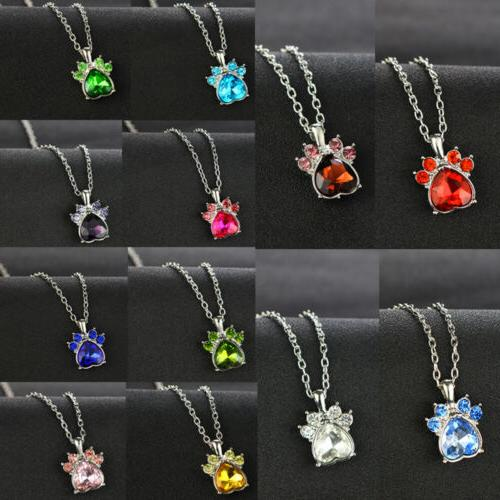 12 months necklace jewelry crystal rhinestone heart