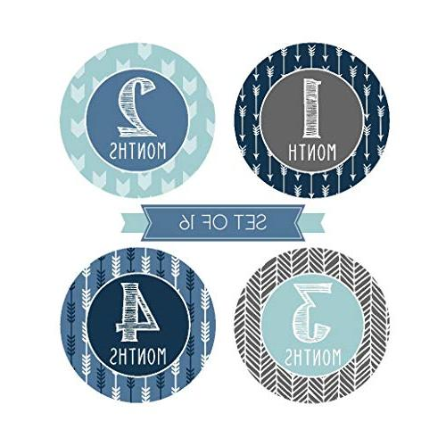 16 Blue Boy Monthly Picture Props For Infant Birth Belly Scrapbook Memory Registry Gift, Best
